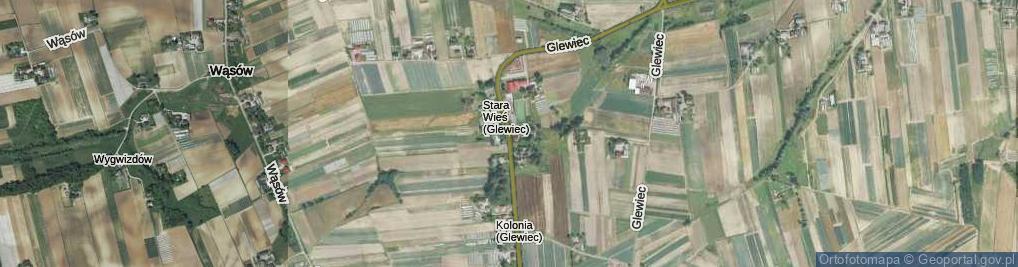 Zdjęcie satelitarne Glewiec