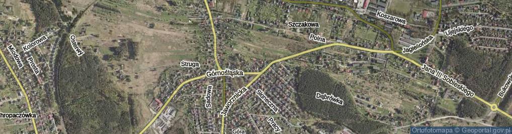 Zdjęcie satelitarne Głogowa ul.