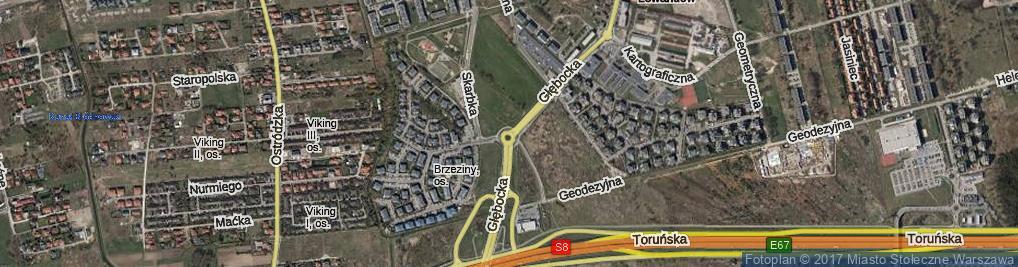 Zdjęcie satelitarne Głębocka