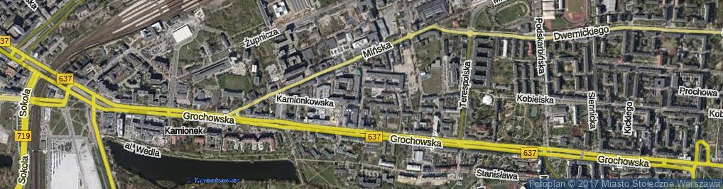 Zdjęcie satelitarne Gocławska ul.
