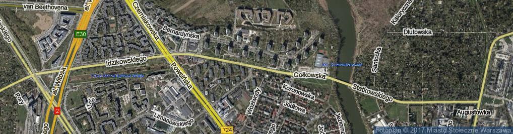 Zdjęcie satelitarne Gołkowska