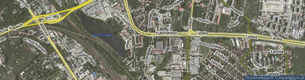 Zdjęcie satelitarne Gromadzka
