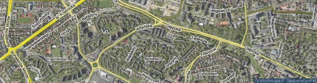 Zdjęcie satelitarne Grażyny ul.