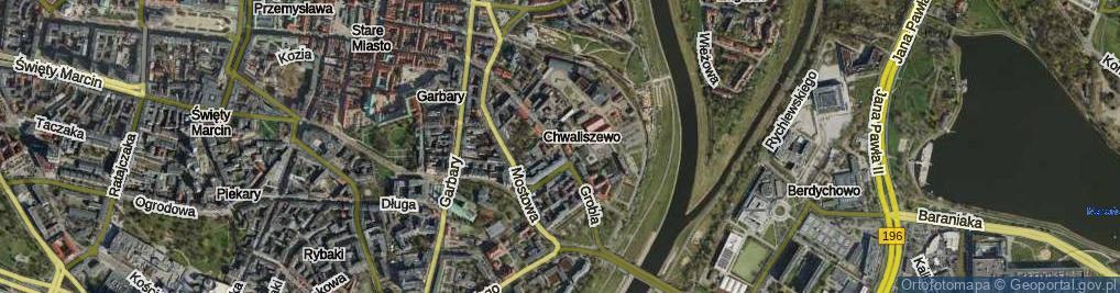 Zdjęcie satelitarne Grobla