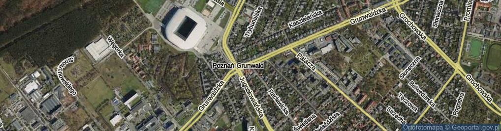 Zdjęcie satelitarne Grunwaldzka