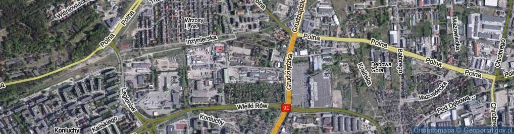 Zdjęcie satelitarne Grudziądzka