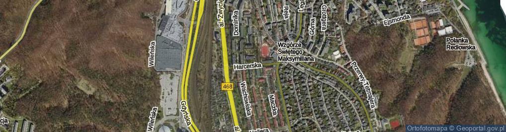 Zdjęcie satelitarne Harcerska