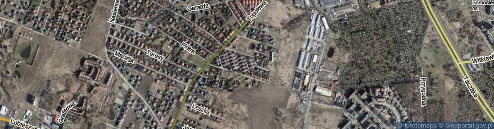 Zdjęcie satelitarne Historyczna ul.