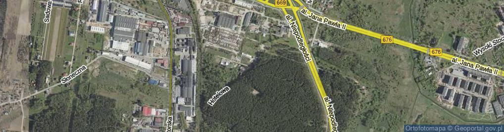Zdjęcie satelitarne Hotelowa