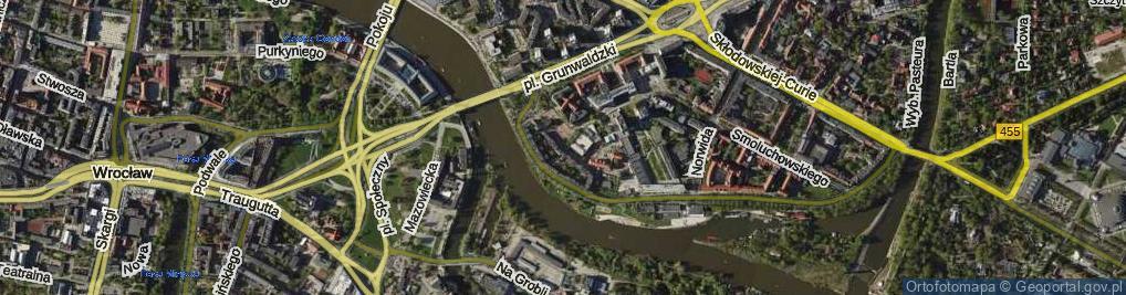 Zdjęcie satelitarne Hoene-Wrońskiego Józefa Marii ul.