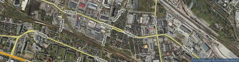 Zdjęcie satelitarne Hutnicza