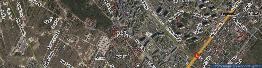 Zdjęcie satelitarne Husarska