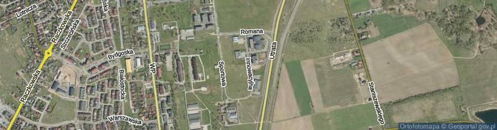 Zdjęcie satelitarne Innowacyjna ul.