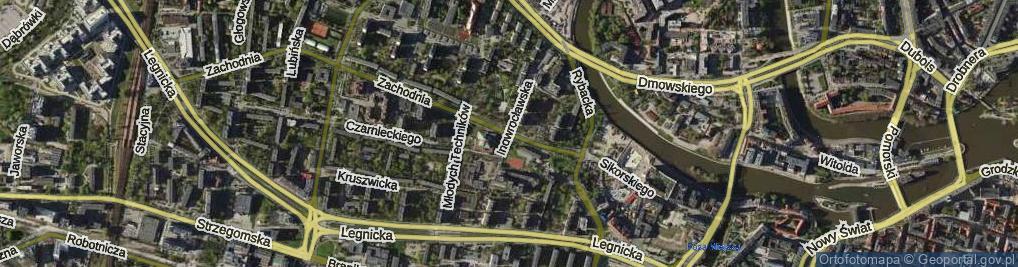 Zdjęcie satelitarne Inowrocławska
