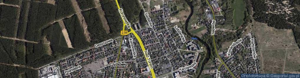 Zdjęcie satelitarne Jarmużowa