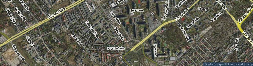 Zdjęcie satelitarne Jawornicka