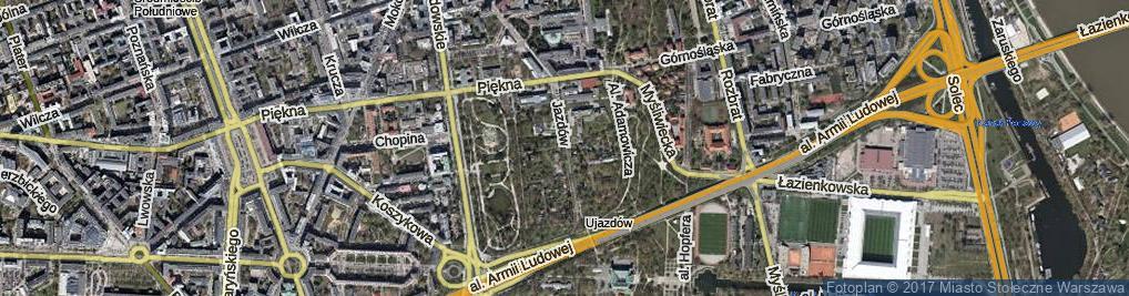 Zdjęcie satelitarne Jazdów ul.