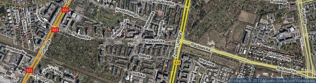 Zdjęcie satelitarne Jasielska