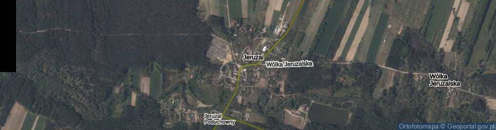 Zdjęcie satelitarne Jeruzal