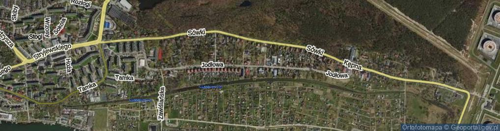 Zdjęcie satelitarne Jodłowa ul.