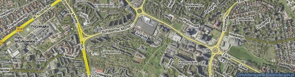 Zdjęcie satelitarne Juranda