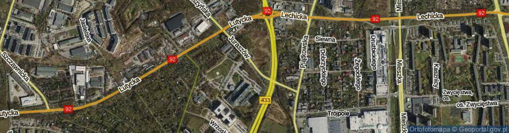 Zdjęcie satelitarne Juraszów