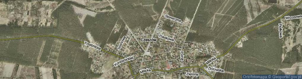 Zdjęcie satelitarne Kasztanowa