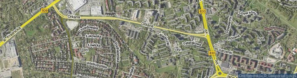 Zdjęcie satelitarne Kaczeńcowa