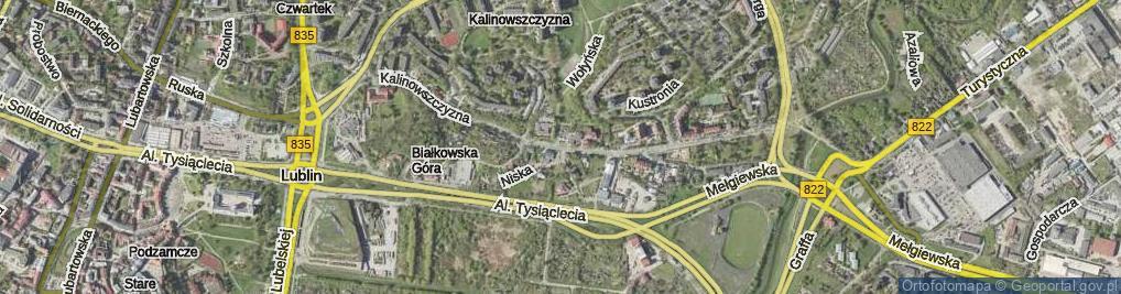 Zdjęcie satelitarne Kalinowszczyzna