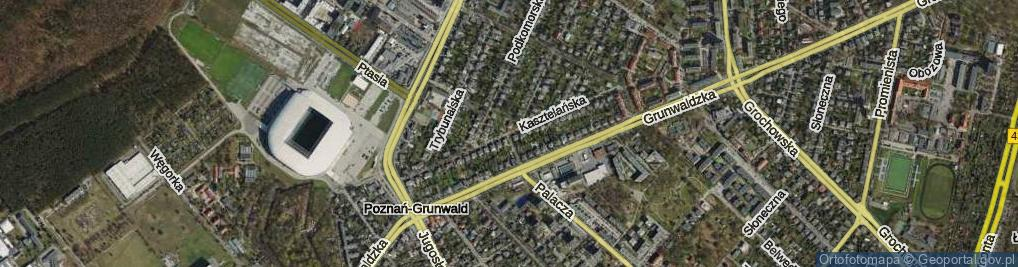 Zdjęcie satelitarne Kasztelańska