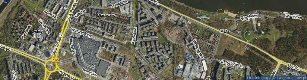 Zdjęcie satelitarne Katowicka