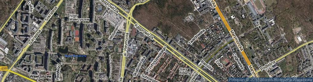 Zdjęcie satelitarne Kasprowicza Jana