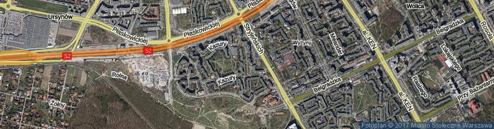 Zdjęcie satelitarne Kazury Stanisława
