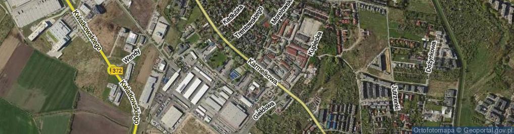 Zdjęcie satelitarne Karmelkowa ul.