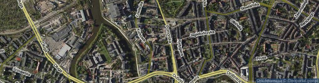 Zdjęcie satelitarne Kaszubska