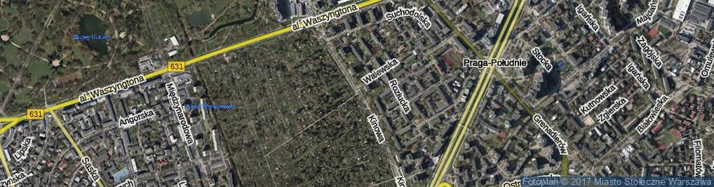 Zdjęcie satelitarne Kinowa ul.
