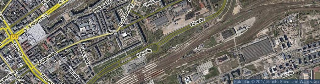 Zdjęcie satelitarne Kijowska ul.