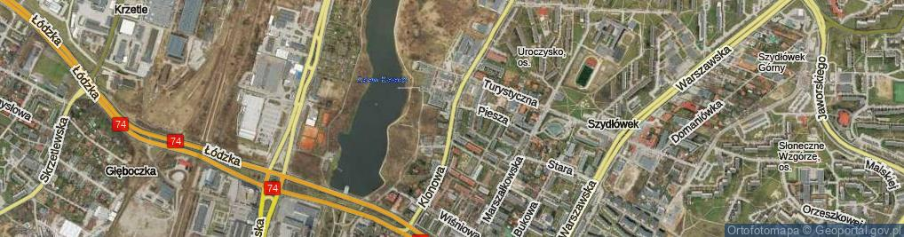 Zdjęcie satelitarne Klonowa