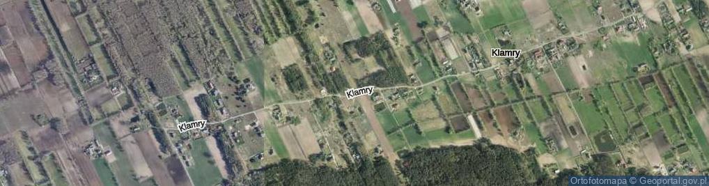 Zdjęcie satelitarne Klamry ul.
