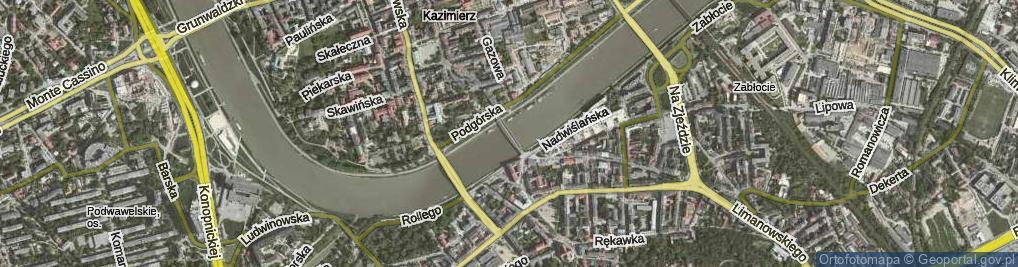 Zdjęcie satelitarne Kładka Ojca Bernatka