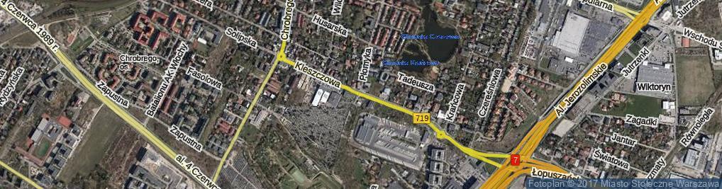 Zdjęcie satelitarne Kleszczowa