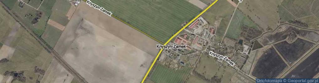 Zdjęcie satelitarne Knyszyn-Zamek ul.