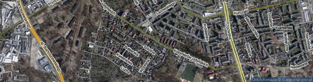 Zdjęcie satelitarne Kosynierów Gdyńskich