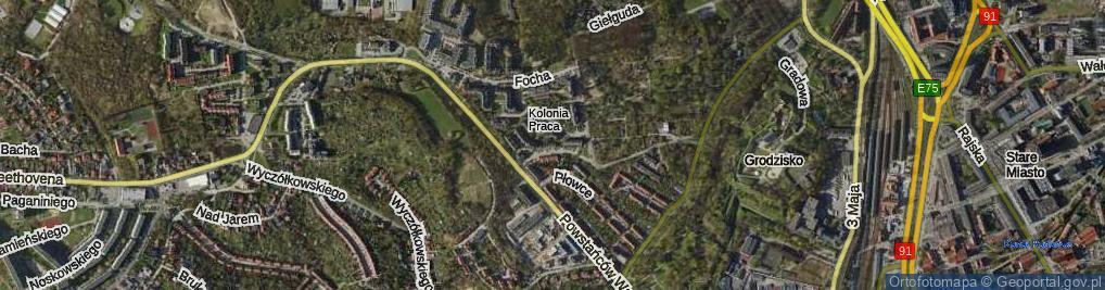 Zdjęcie satelitarne Kozietulskiego Jana Leona, płk. ul.
