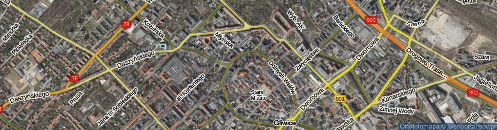 Zdjęcie satelitarne Kościelna