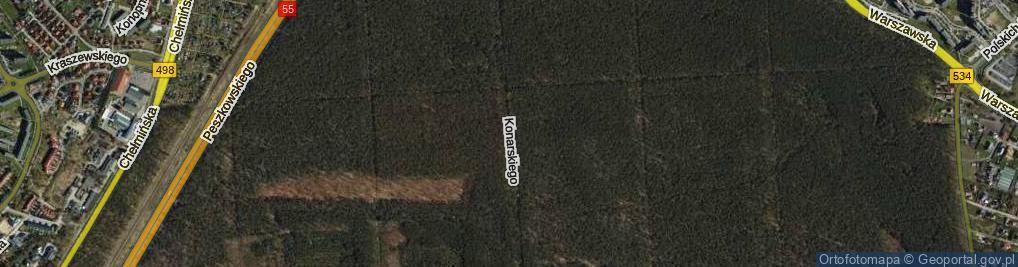 Zdjęcie satelitarne Konarskiego