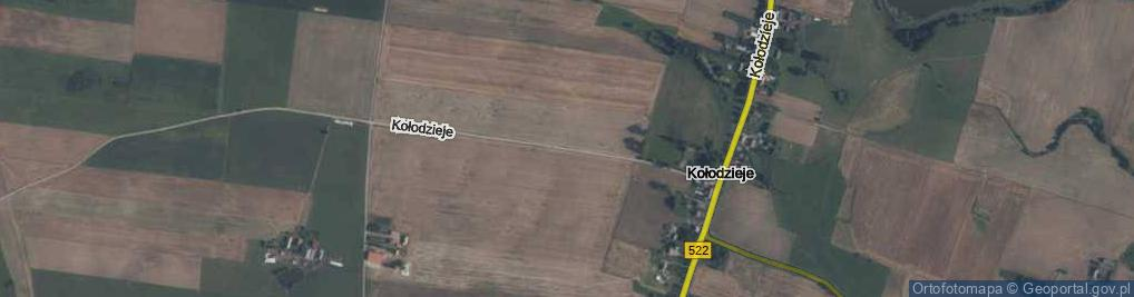 Zdjęcie satelitarne Kołodzieje ul.