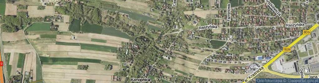Zdjęcie satelitarne Konopnica ul.
