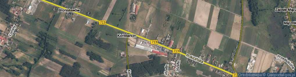 Zdjęcie satelitarne Konstancin ul.