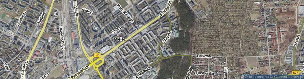 Zdjęcie satelitarne Konopnickiej Marii
